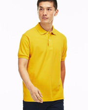 Pull & Bear Branded Polo T-Shirt For Mens - Yellow Polo Branded T-Shirts