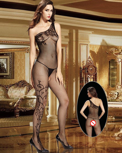 Vaqua Body Stocking Fishnet Dress - Ladies Sexy Net Dresses - 8932