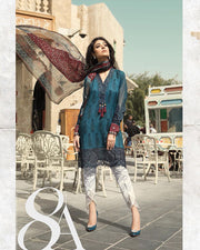 Ladies Replica Suit With Chiffon Printed Dupatta 8A (Replica)(Unstitched)