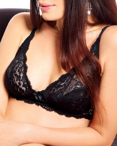 Lovely Lace Bra - Flourish Bra - Net Bra See Through Bra Non Padded Non Wired Bra