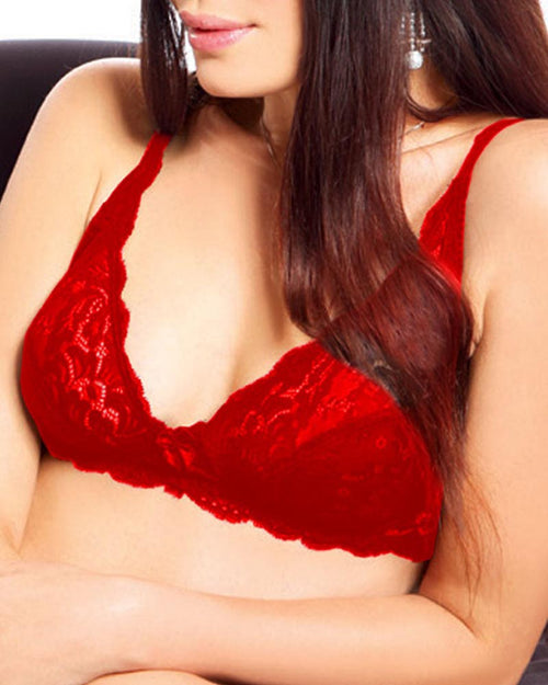 Lovely Lace bra - Flourish - Red