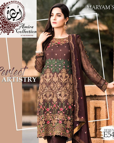 Maryam Chiffon Eid Collection (Replica)(Unstitched)