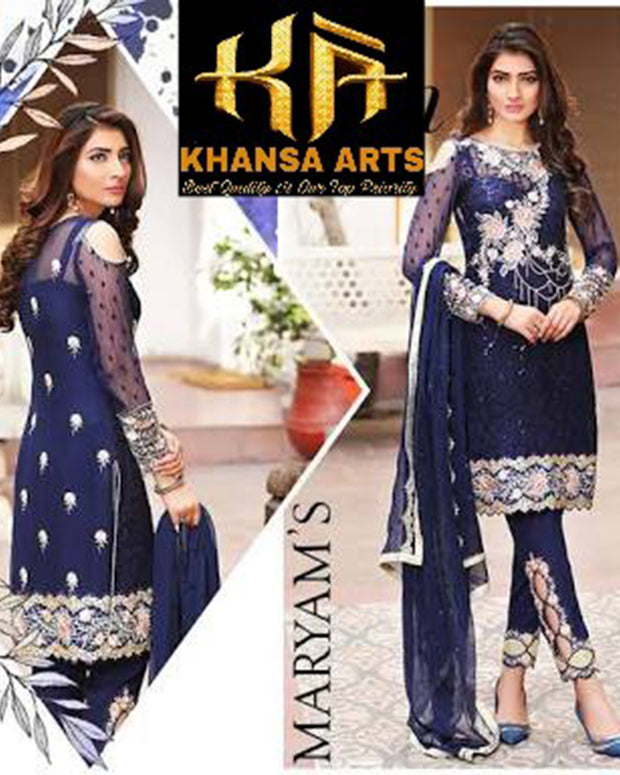 Mariam's Collection With Embroidered Dupatta (Replica)(Unstitched)