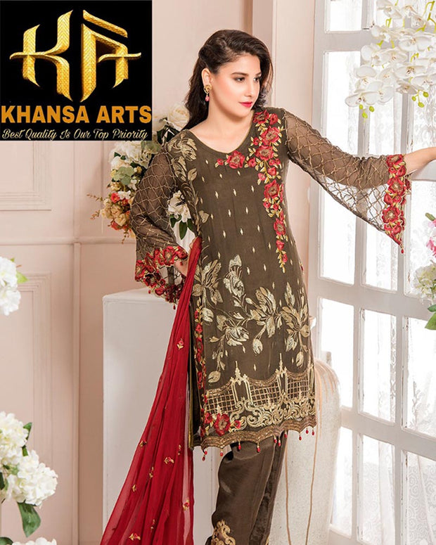 MARYAM'S CHIFFON COLLECTION - A/06-18 (Replica)(Unstitched)