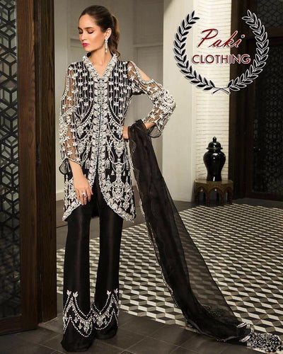 Mahira Khan Net Partywear Dress Collection (Replica)(Unstitched)