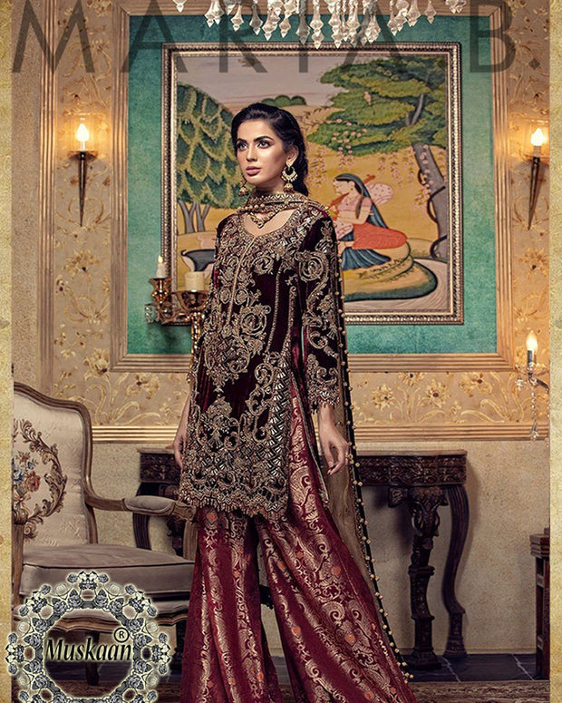 Maria B Darya-e-Noor Velvet Collection (Replica)(Unstitched)