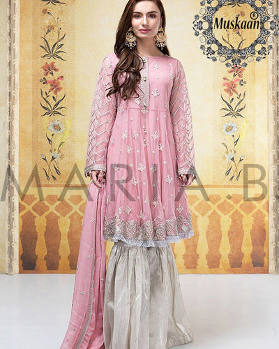 Maria B Chiffon Virasat Bridal Collection (Replica)(Unstitched)