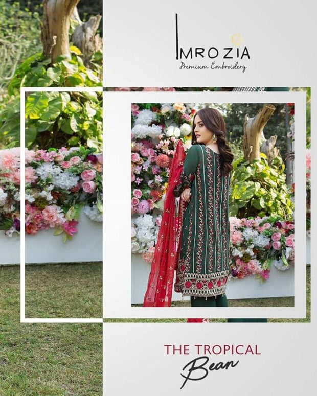 Imrozia Full Chiffon Suit (Replica)(Unstitched)