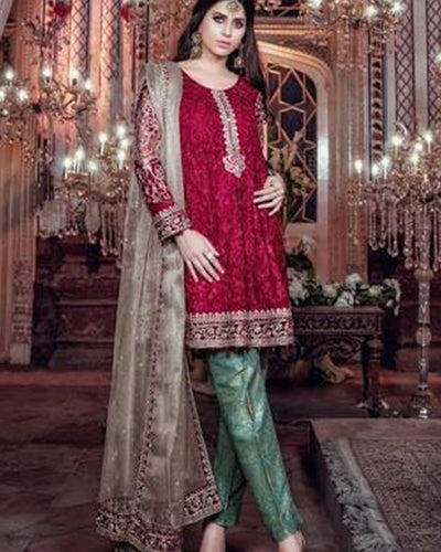 Maria B Chiffon Collection - BD-04 (Replica)(Unstitched)
