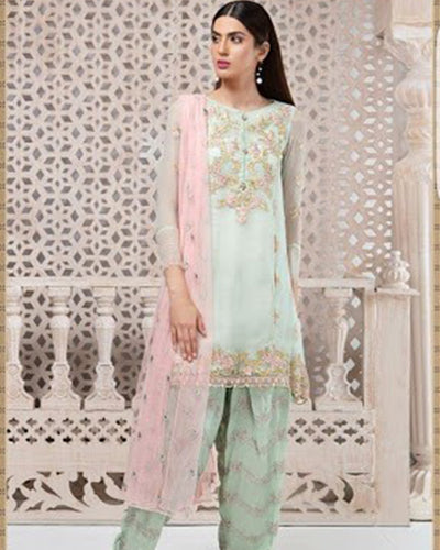 MARIA B COTTON COLLECTION With Embroidered Dupatta (Replica)(Unstitched)