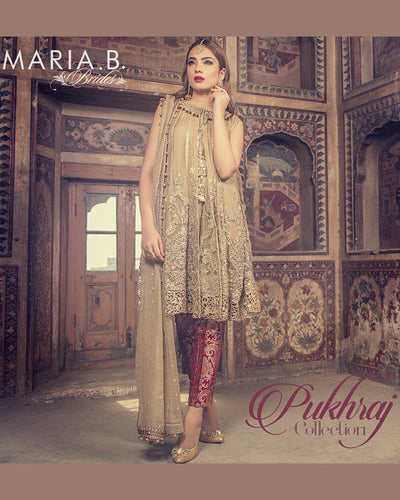 MARIA B CHIFFON COLLECTION WITH CHIFFON DUPATTA - MBB-1415 (Replica)(Unstitched)