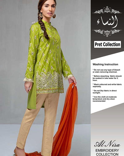 Maria B Pret Collection Lawn With Chiffon Dupatta (Replica)(Unstitched)