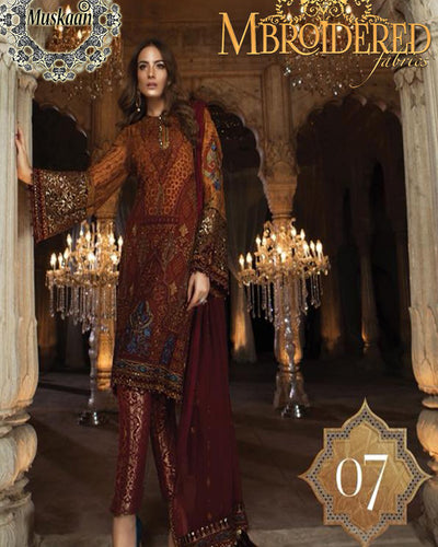 Maria B Embroidered Chiffon Collection D-07 (Replica)(Unstitched)