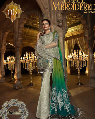 Maria B Embroidered Chiffon Collection D-06 (Replica)(Unstitched)