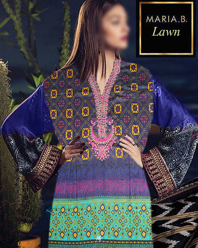 Maria B Charizma Lawn Collection By Shiwani DK Brother - 3 Piece Suit (Replica)(Unstitched)