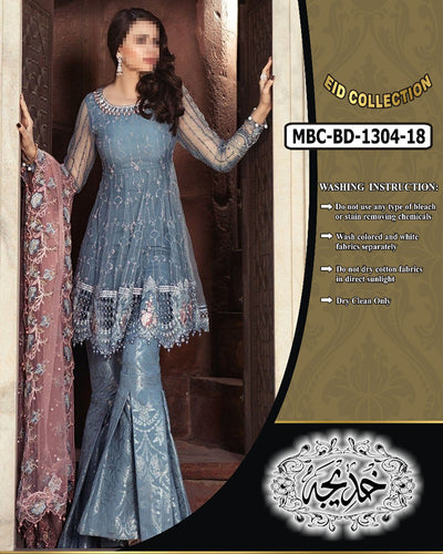 Maria B Chiffon Collection With Net Heavy Embroidered Dupatta MBC-BD-1304 (Replica)(Unstitched)