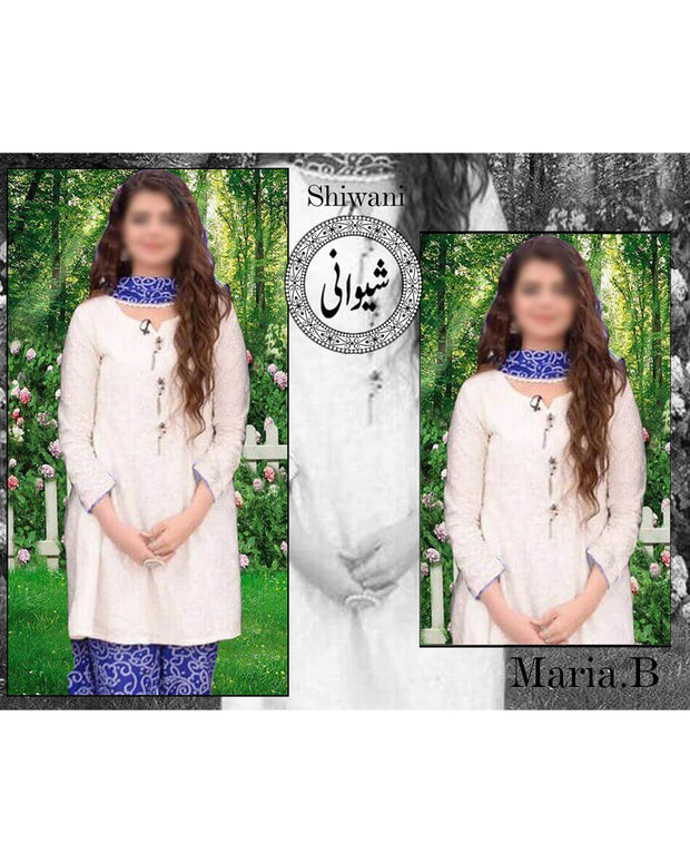 Maria B Replica Lawn Collection By Shiwani - 3 Piece Suit - (Replica)(Unstitched)