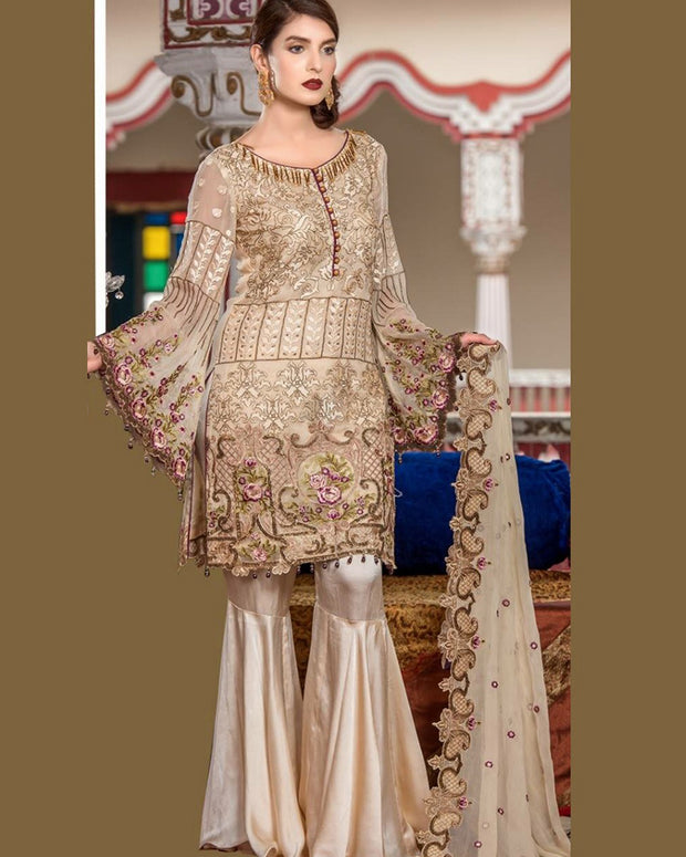 Maryam Chiffon Collection With Embroidered Chiffon Dupatta (Replica)(Unstitched)