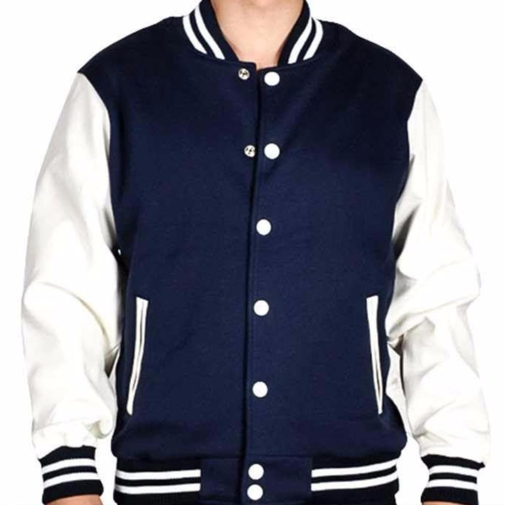 Navy Blue & White - Winter Season Jackets For Mens - Men Jackets - diKHAWA Online Shopping in Pakistan