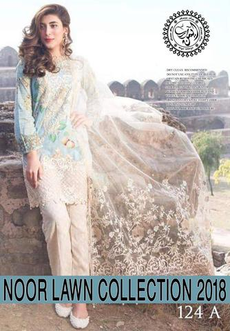Noor Lawn By Sadia Asad (Replica) (Unstitched)