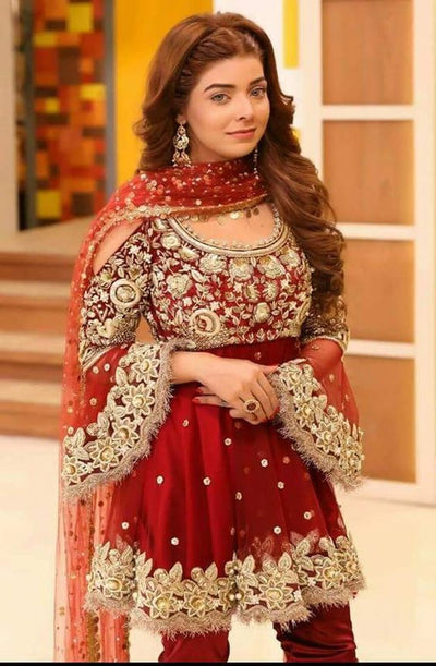 PAKI BRIDAL DRESSES CHIFFON SUIT (Replica) (Unstitched)