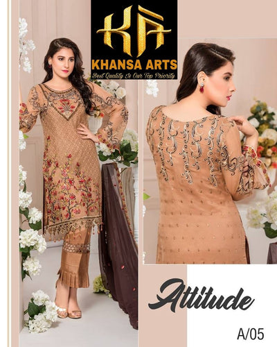 Maryam's Party Wear Collection With Embroidered (Replica)(Unstitched)