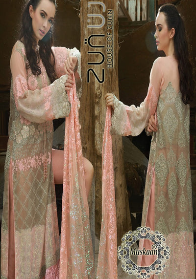 Zunuj Chiffon Collection 2018 - Replica - Unstitched