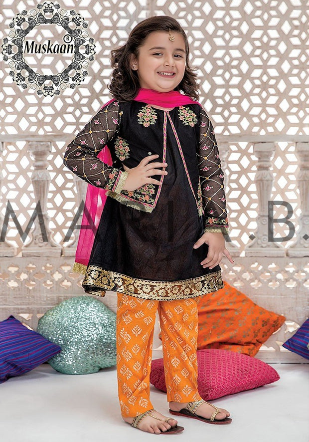 Maria B Chiffon Kids Eid Collection - Replica - Unstitched