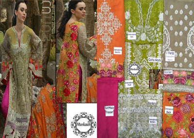 Zunuj Chiffon Collection - Replica - Unstitched