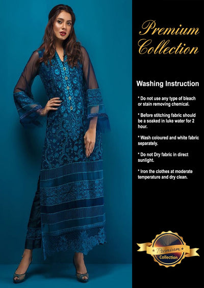 Zainab Chottani Chiffon Collection - Replica - Unstitched