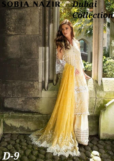 Sobia Nazir Embroidered Net Collection With Embroidered Net Dupatta (Replica)(Unstitched)