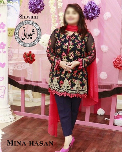 Mina Hasan Cotton Suit - Replica - Unstitched