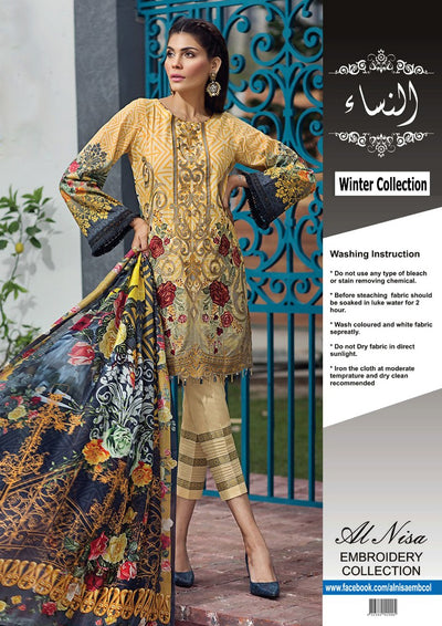 Baroque Jazmin Khaddar Collection - Replica - Unstitched