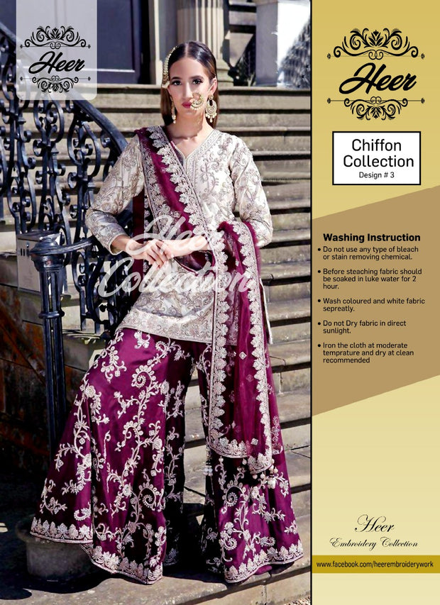 Heer Collection Presents - Replica - Unstitched