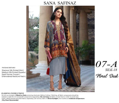 SANA SAFINAZ LUXURY SILK COLLECTION - Replica - Unstitched