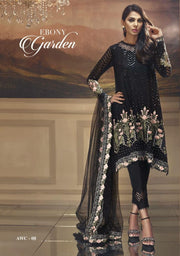 Anaya Chiffon Dresses - Embroidered Net Dupatta - Replica - Unstitched