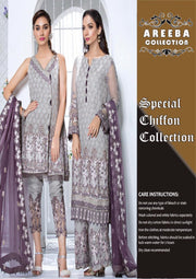 GULAAL PREMIUM EMBROIDERED CHIFFON COLLECTION - Embroidered Chiffon Dupatta - Replica - Unstitched