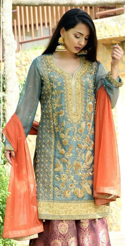 Maliha Kamal Mysoori Collection - Replica - Unstitched
