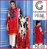 Charizma Linen Dresses - Embroidered Wool Shawl Dupatta - Replica - Unstitched