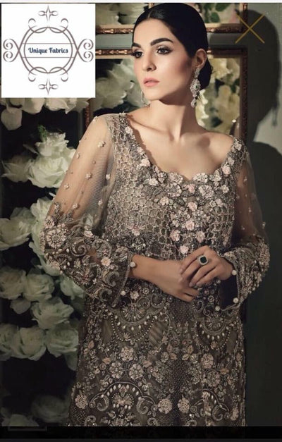 Maria B Net Dresses - Embroidered Net Dupatta - Replica - Unstitched