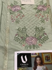 Imrozia Cambric Dresses - Embroidered Cambric Dupatta - Replica - Unstitched