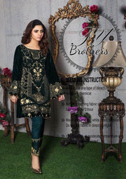 Gulaal Velvet Dresses - Embroidered Net Dupatta - Replica - Unstitched