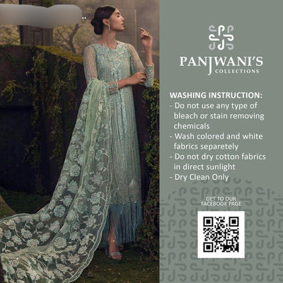 Panjwani Collection Net Dresses - Embroidered Net Dupatta - Replica - Unstitched