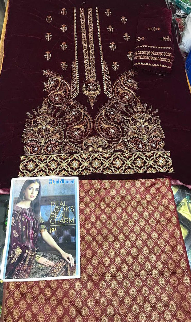 Gul Ahmed Winter Collection 2018 - Replica - Unstitched