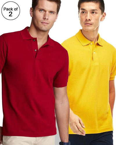 Pack of 2 Pull & Bear Branded Polo T-Shirt For Mens - Polo Branded T-Shirts
