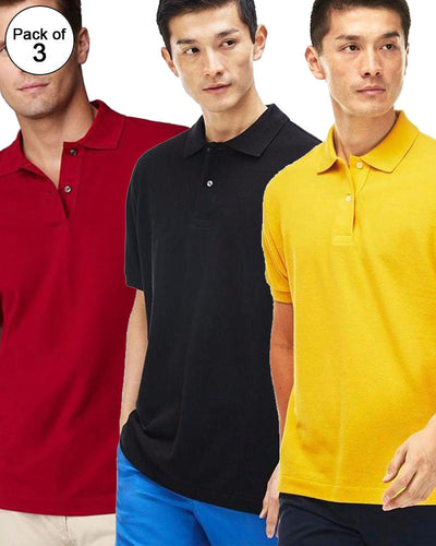 Pack of 3 Pull & Bear Branded Polo T-Shirt For Mens - Polo Branded T-Shirts