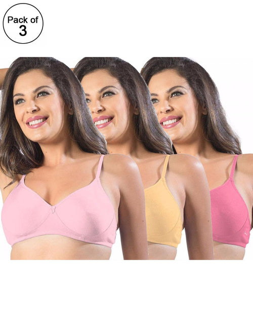 f06106a1903 Pack of 3 - Sonari Smile Bra - Non Padded Non Wired - Imported Bra -