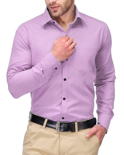 Mens Shirts Plain Pink - Casual Shirts By Tommy Hilfiger