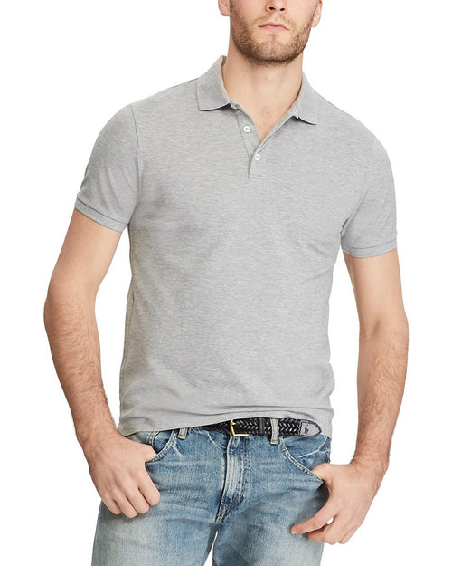 Pull & Bear Branded Polo T-Shirt For Mens - Grey Polo Branded T-Shirts