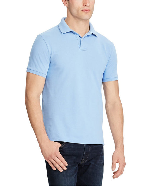 Pull & Bear Branded Polo T-Shirt For Mens - Sky Blue Polo Branded T-Shirts